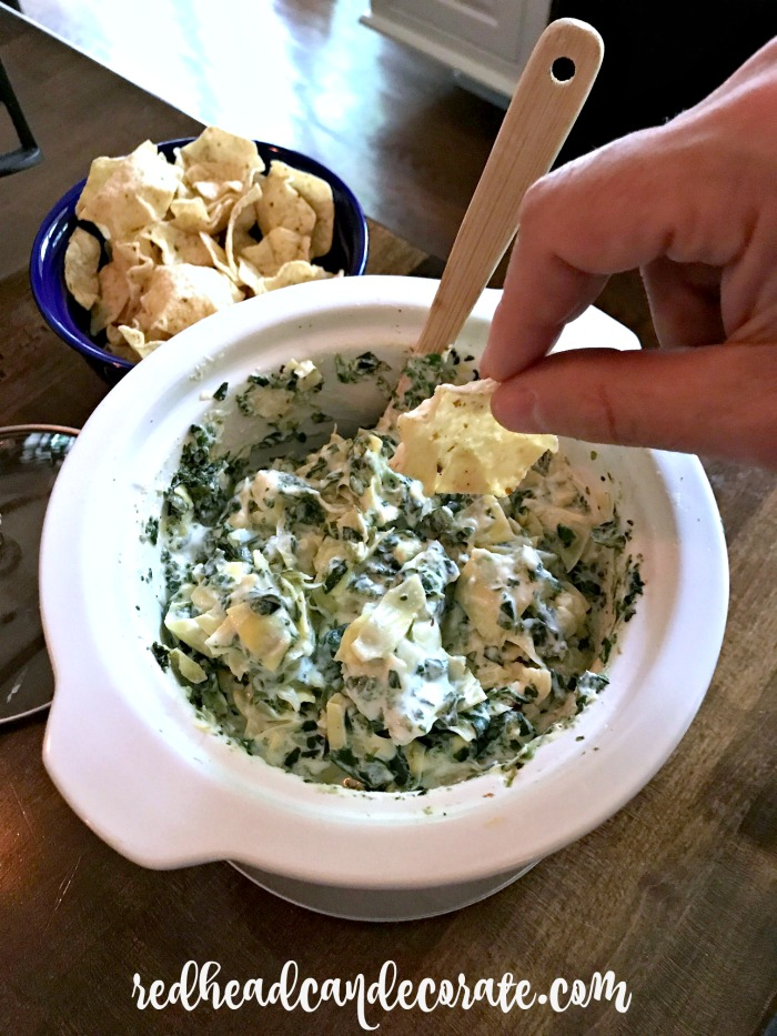 She has been making this spinach & artichoke dip for over 20 years and the teens beg her to make it. It's not like the greasy ones you find in restaurants. It's a bit lighter with amazing flavor.