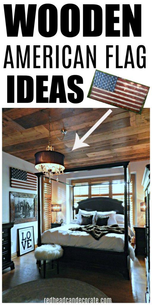 Patriotic master bedroom for American flag bedroom ideas