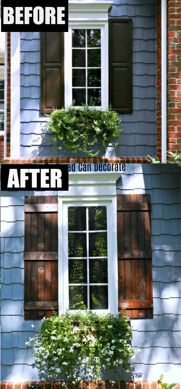 Exterior Cedar Shutters The Reveal Redhead Can Decorate