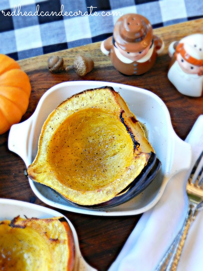 This easy roasted acorn squash recipe is so easy to make and a perfect side dish for Thanksgiving or Christmas.