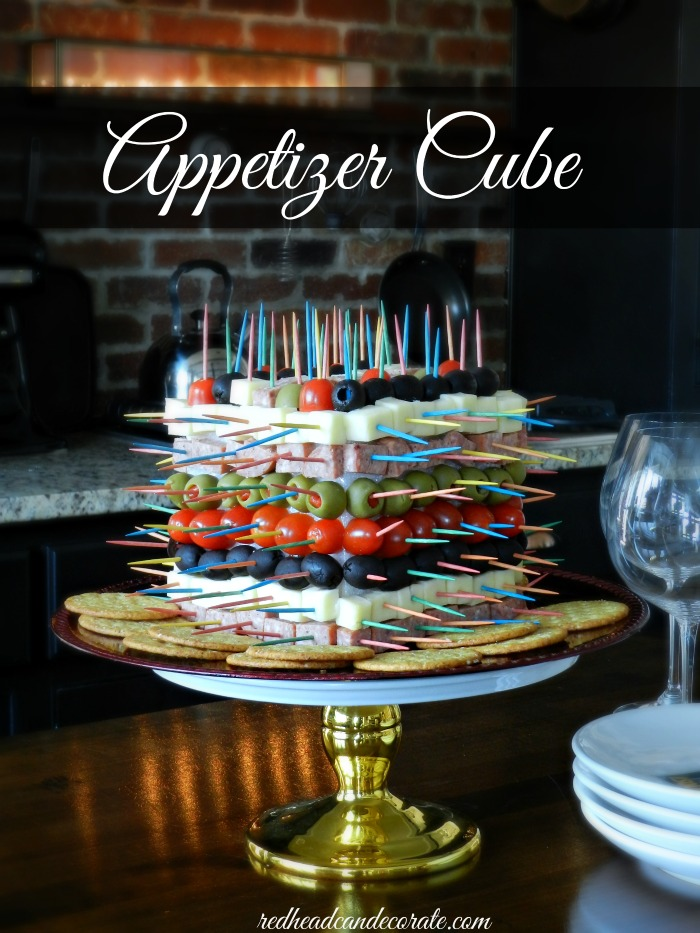 This dollar store appetizer cube is absolutely genius! This would be perfect for the holidays, Christmas, New Year's Eve!