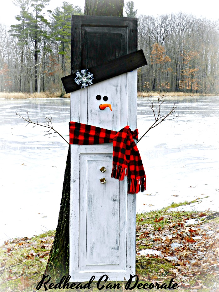 This Repurposed Snowman Shutter is so cute and makes perfect home decor for before, during, and after the holidays!