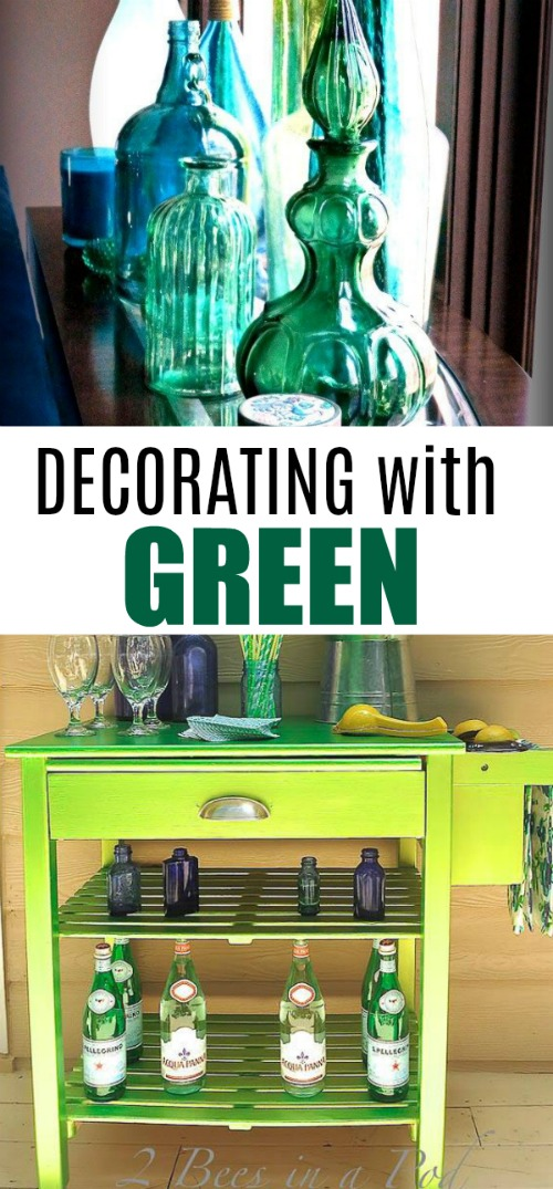 Decorating with green is very simple and beautiful!
