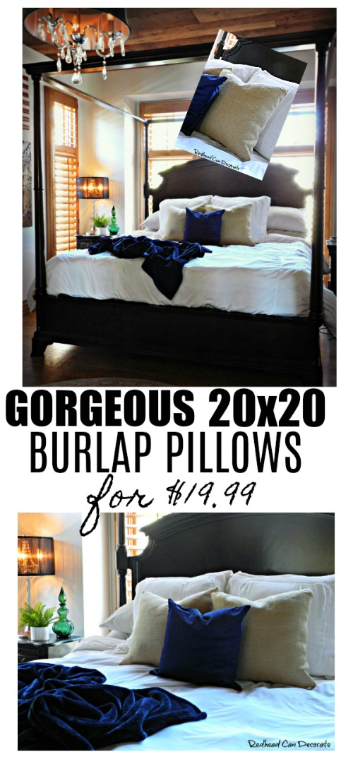 """If you're searching for a high quality burlap pillow then search no more! Check out ""Burlap Pillows & Giveaway"" from BurlapFabric.com."