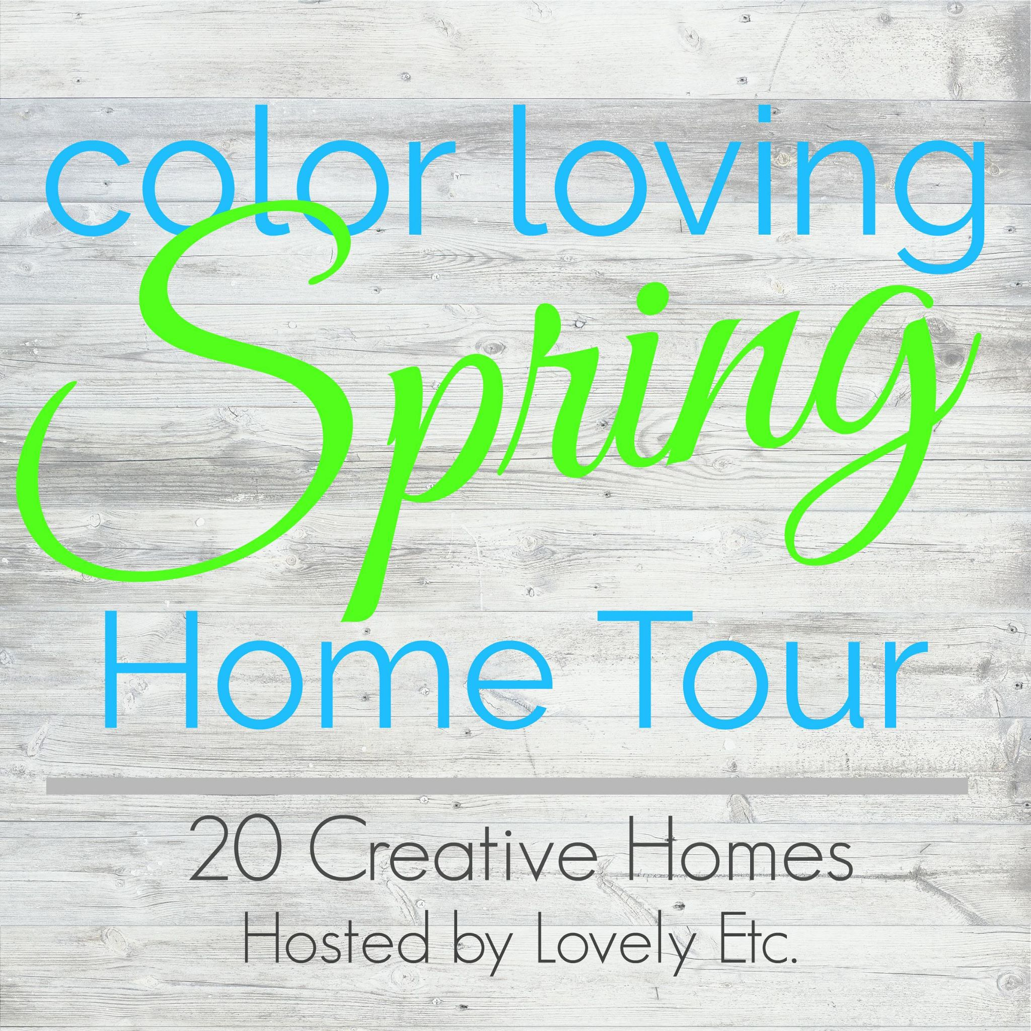 This colorful Spring home tour shows you how easy it is to add color to your home without spending a fortune.