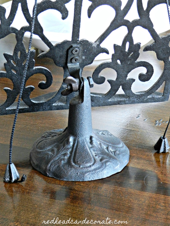 "This ""Cast Iron Cookbook Stand"" is so gorgeous and perfect for a kitchen island or sitting by your stove on the counter. She's giving it away!"