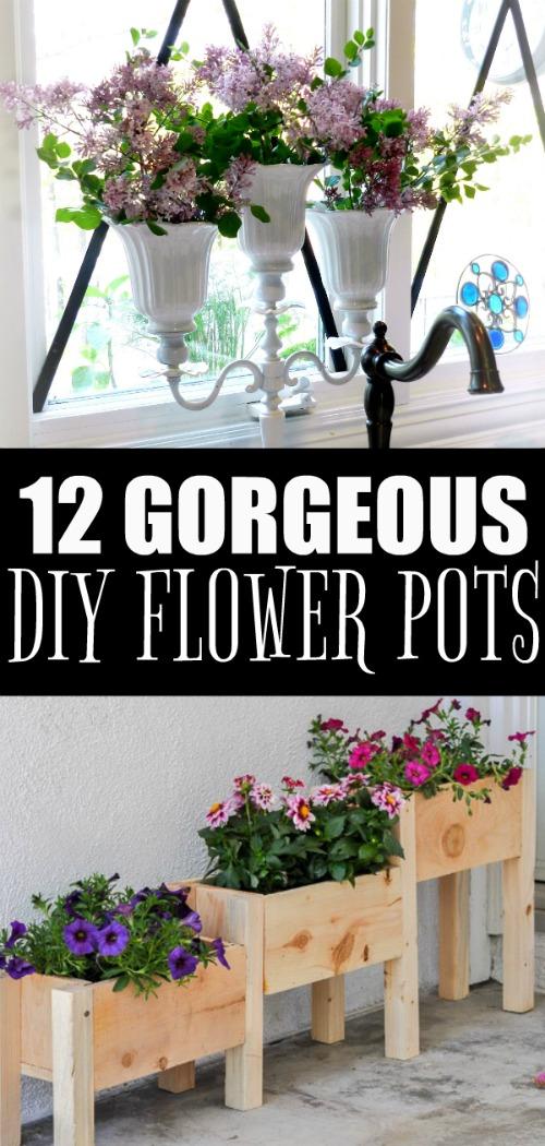 12 Gorgeous DIY Potted Plant Ideas