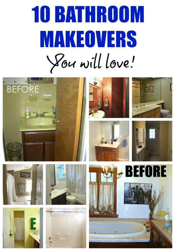 10 bathroom makeovers you will love!
