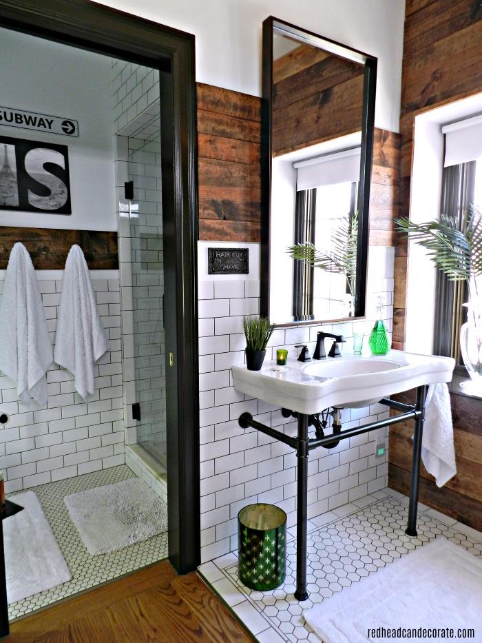 Master bathroom renovation husband 39 s shaving station sink - How to decorate my bathroom ...