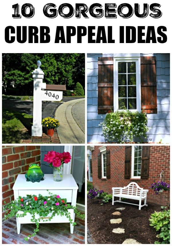 These affordable curb appeal ideas are so darling!