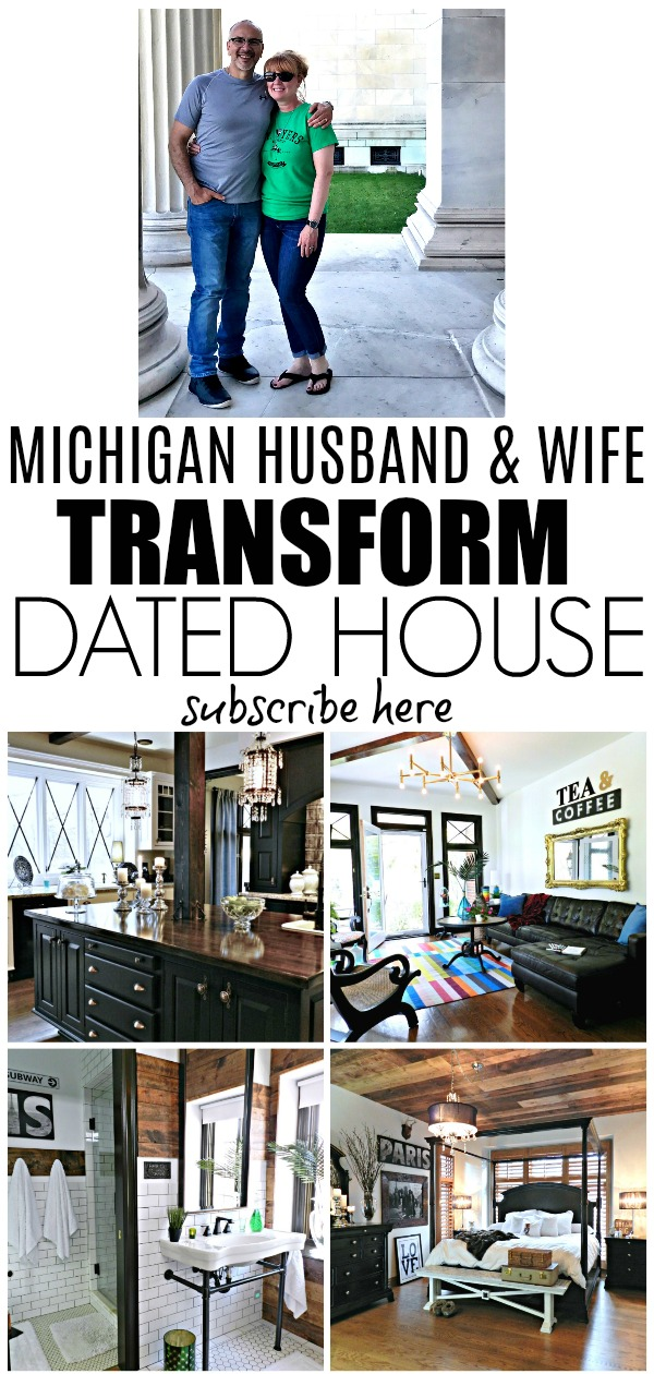 You have got to see what this married couple did to their Michigan home!  They share DIY home improvement tutorials and thrifty decorating ideas too!