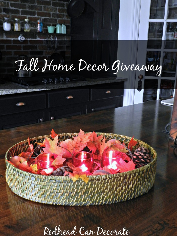 Thrifty Style Fall Home Decor Giveaway - Redhead Can Decorate