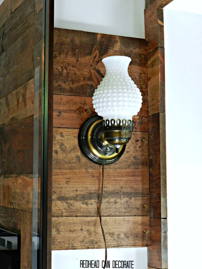 Where to Hang a White Hobnail Sconce with Exposed Cord