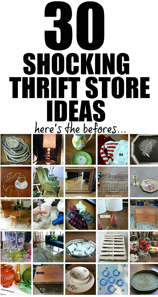 30 of the best thrift store home decorating ideas in blog land right here!