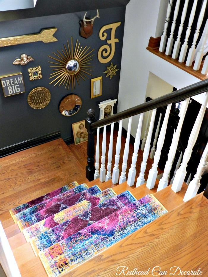 Stairway Dark Gray Accent Wall