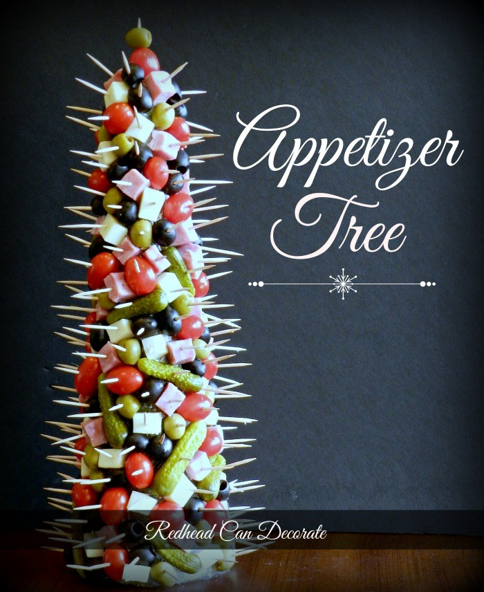 This dollar store appetizer tree is absolutely genius! This would be perfect for the holidays, Christmas, New Year's Eve!