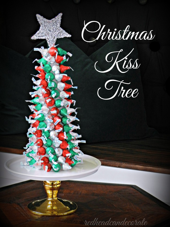 This Hershey Christmas Kiss Tree is so easy to make and there is also a few other party trees on this website!