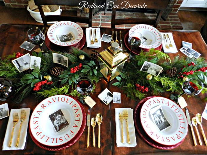 This beautiful Fireside Christmas Tablescape is so pretty for the holidays and sounds simple to DIY.