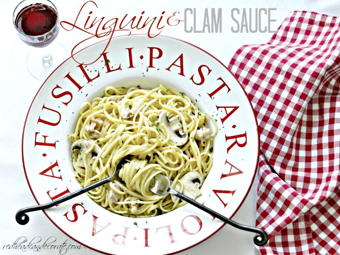 This linguini and clam sauce recipe sounds very easy to make and looks so tasty!