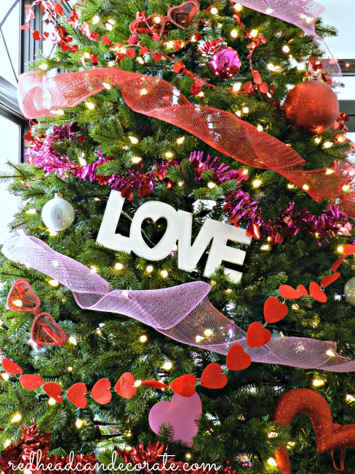 The Dollar Store Valentine's Day Tree is such a cute idea!