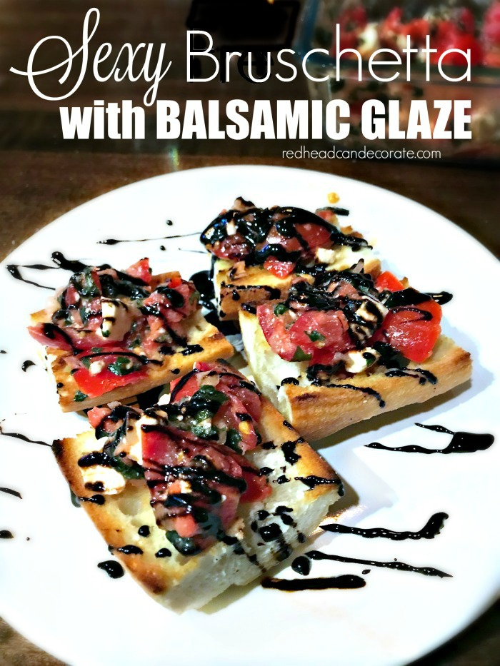Sexy Bruschetta With Balsamic Glaze Redhead Can Decorate