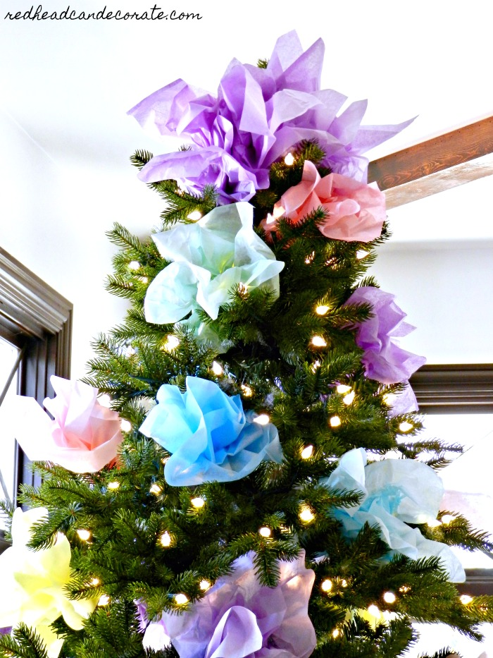 Dollar Store Tissue Paper Tree
