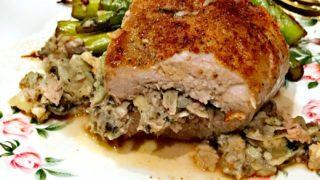 Healthy Stuffed Pork Loin