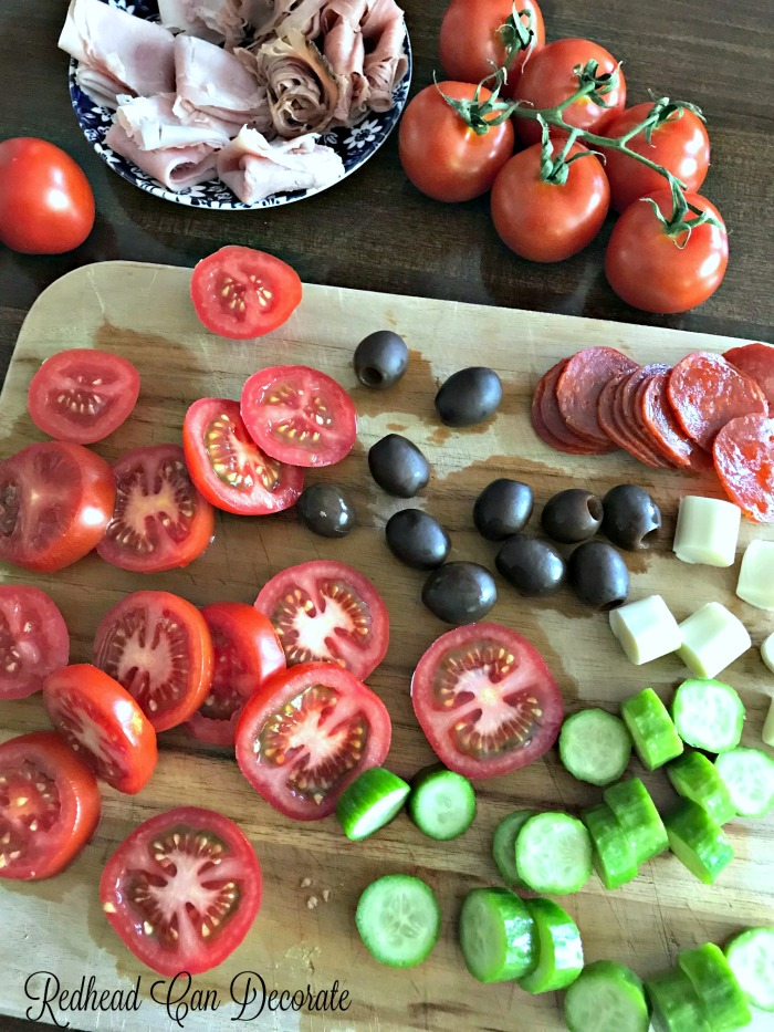 Simple and elegant Tomato Appetizer Plates are the perfect touch when you are entertaining on a budget.