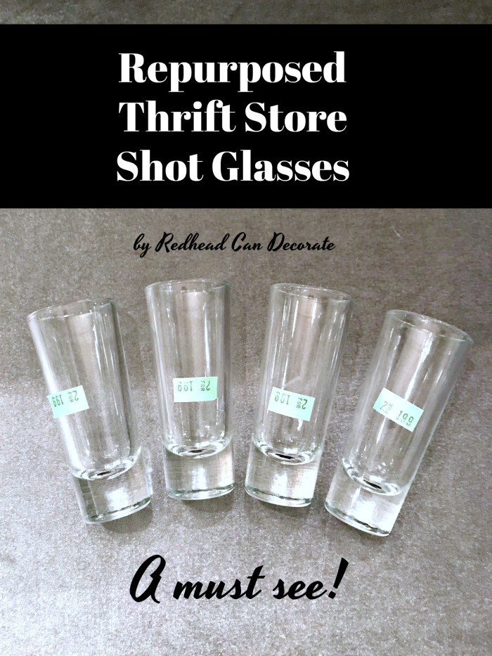 These Repurposed Thrift Store Shot Glasses: Pasta Shots would make such a great addition to your next party or celebration as an appetizer!