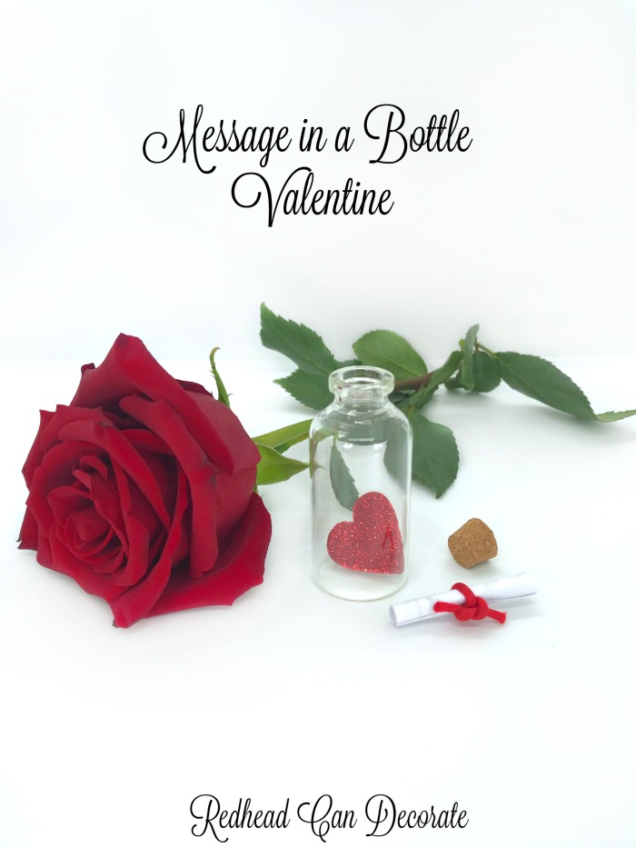 Simple and sweet, this Message in a Bottle Valentine can be cherished for years and is a unique alternative to expensive greeting cards.