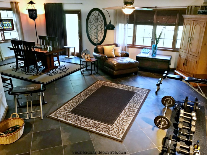 Clever and functional DIY Indoor Home Gym ideas for folks who can't go afford, or risk going to their local gym anymore.