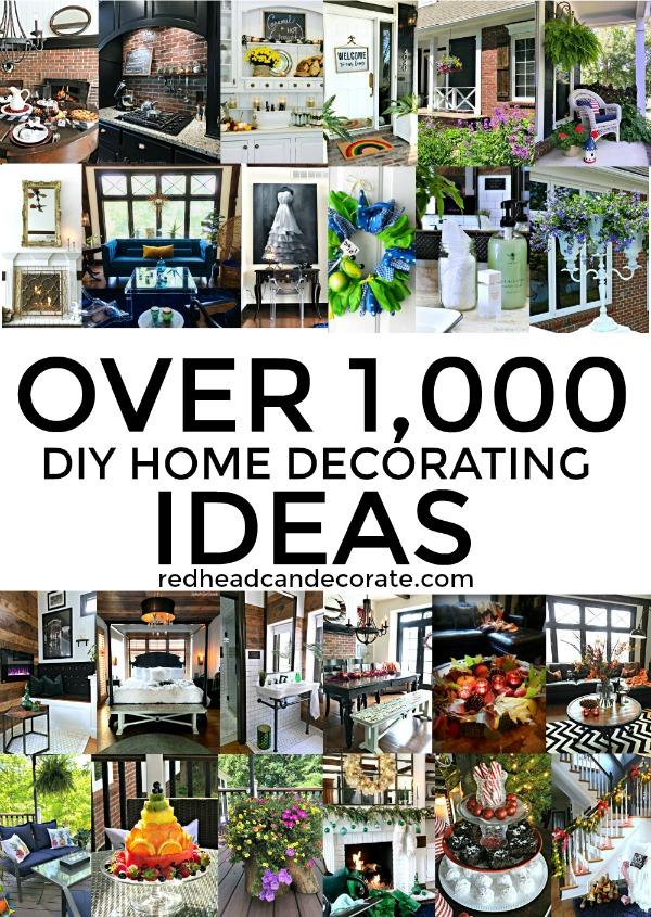 Over 1,000 DIY Home Decorating Ideas from one Michigan Mom that transformed their dated home over a 10 year period.  Redhead Can Decorate DIY Home Decorating & Cooking Slideshow!