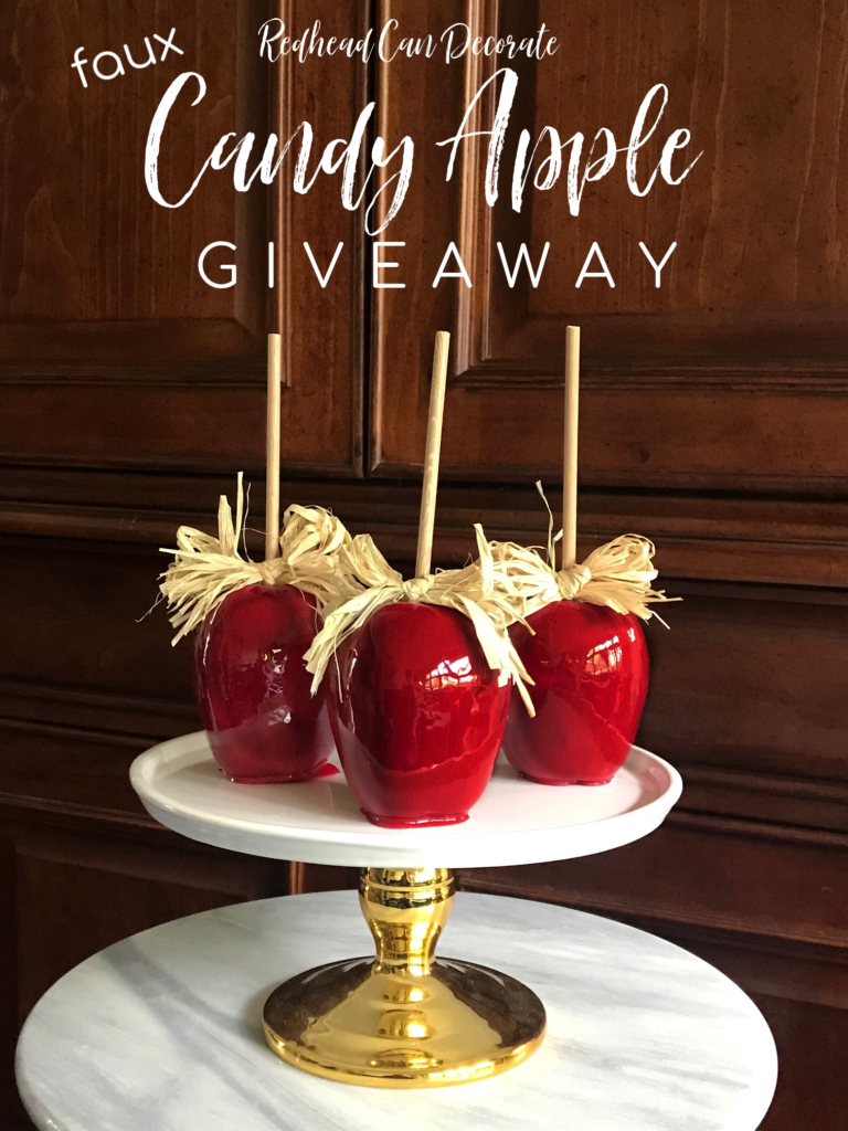 Faux Red Candy Apple Giveaway