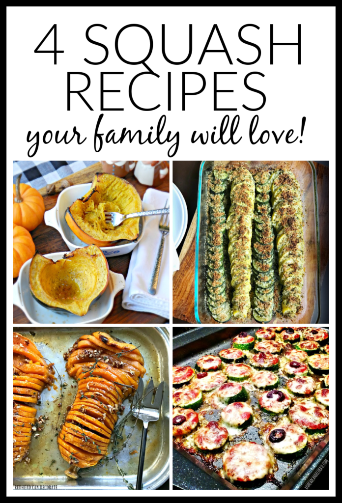 4 simple delicious squash recipes your family will love!