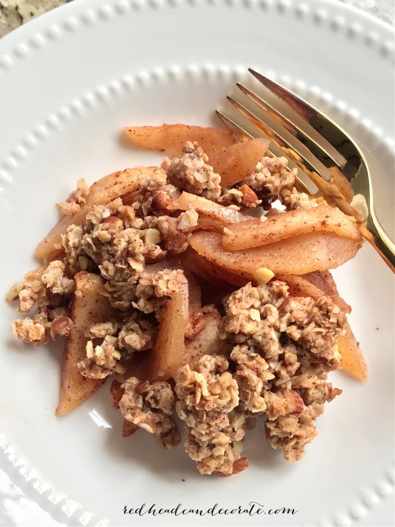 Simple Quick Oats Apple Crisp Recipe