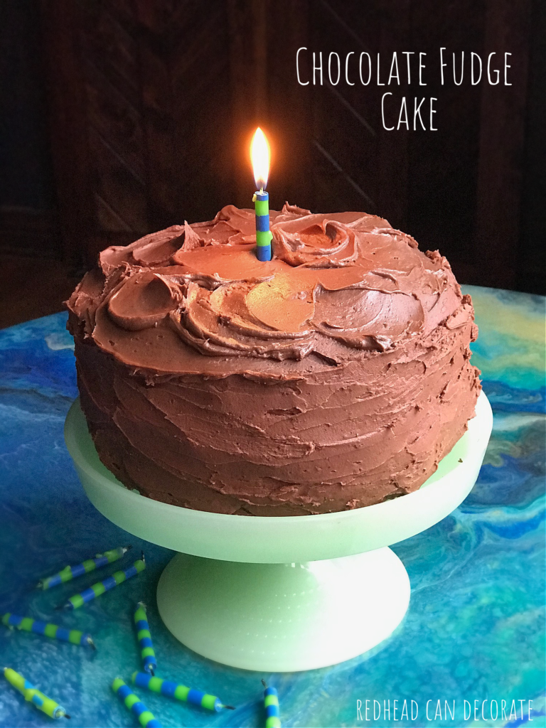 "My mom began making this gorgeous ""Chocolate Fudge Cake Recipe"" in 1975 from Family Circle Magazine.  This from scratch recipe delivers moist chocolate cake wrapped with pure chocolate fudge frosting that is irresistible."