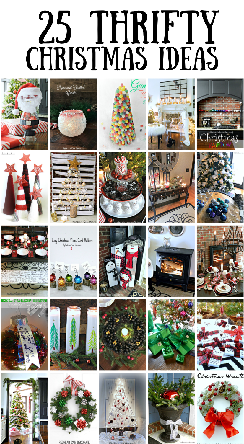 20 Affordable Thrifty DIY Christmas Decorating Ideas   Redhead Can ...