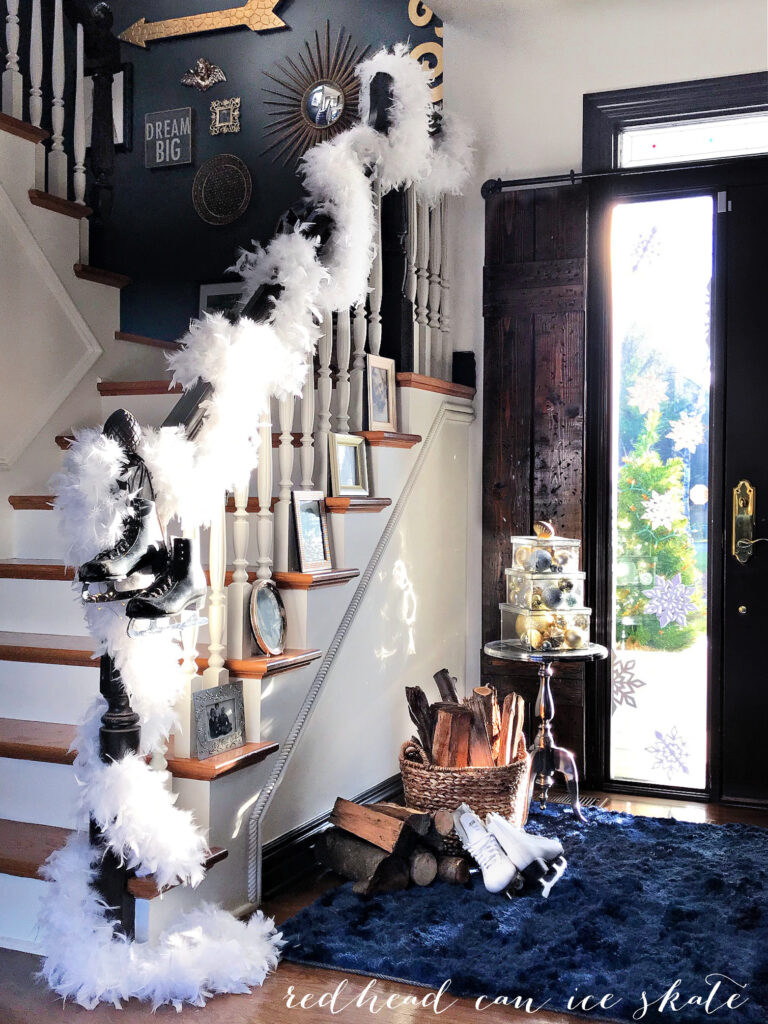 Visit the Silver & Gold Christmas Holiday Housewalk 2020 for affordable repurposing ideas for our Christmas decorating!