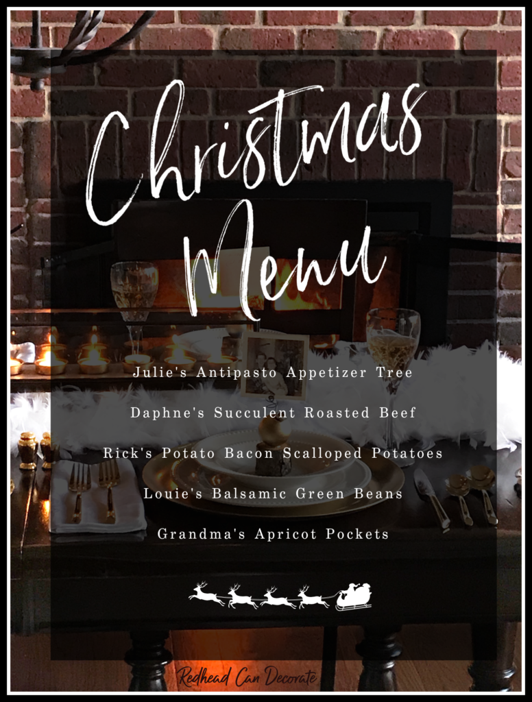 Visit the Silver & Gold Christmas Holiday Housewalk 2020 for affordable repurposing ideas for our Christmas decorating!  There's also this amazing menu full of recipes!