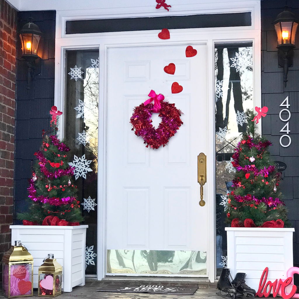 These simple Valentine's Day Red & Pink Whimsical Porch ideas will inspire you to decorate your porch today!