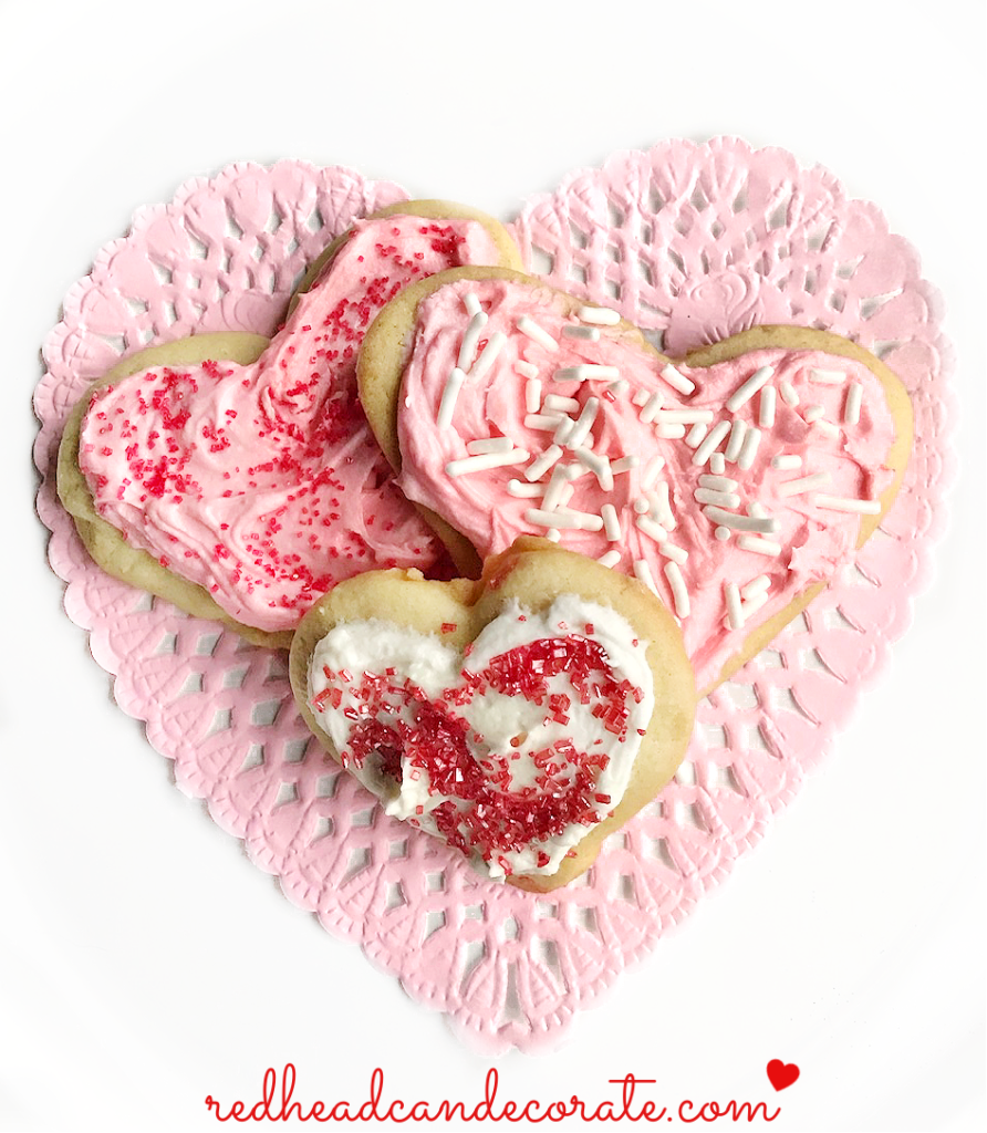 My Great Grandma's Heart Cut Out Cookies from Scratch recipe are made with authentic old fashion ingredients.  They can be eaten with or without frosting for all of the holidays!