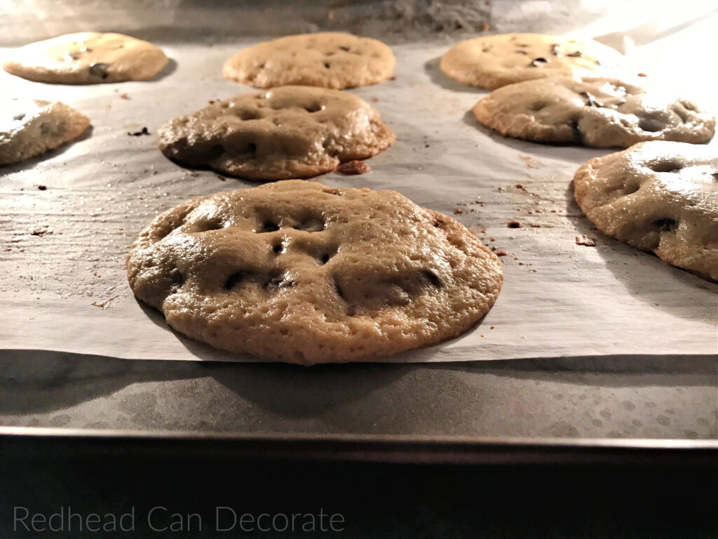 These are The Best Chocolate Chip Cookies by far with a crispy outside and a chewy inside.  The recipe is simple, but has a secret!