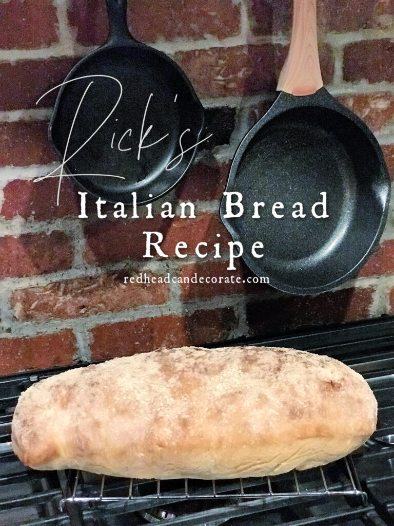 Rick's Homemade Italian Bread is simple, yet has incredible flavor with a hint of olive oil.  It's soft on the inside, and has just the right crusty exterior.  Use this bread for everything from salads, soups, meatballs, subs, and especially toast, garlic bread, or buttered bread all by itself.