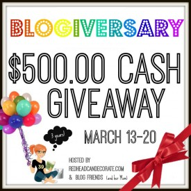$500.00 Cash Giveaway 3 Year Blogiversary