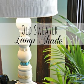 Winter Beach Lodge Living Room Part 1 (Old Sweater Lamp Shade)